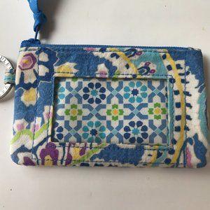 Vera Bradley Key chain ID holder Floral Blue
